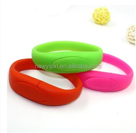 Wholesale Cheap Silicon Wrist Band USB with Logo