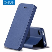 [X-Level] High Quality Premium PU Leather Flip Case for iPhone 4