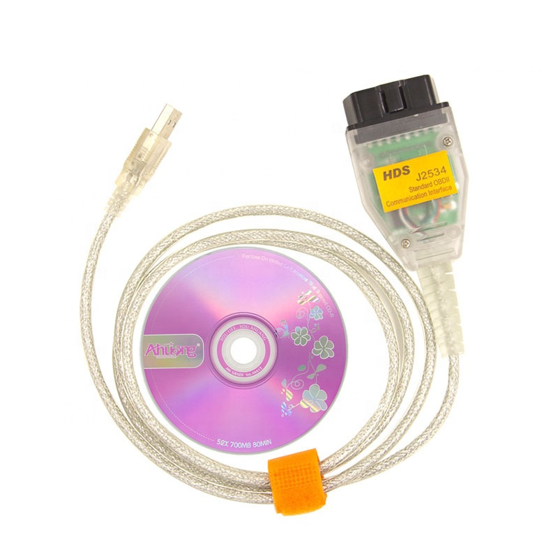 High Quality HDS <strong>J2534</strong> Cable OBD2 Diagnostic Cable For Honda CAN Bus