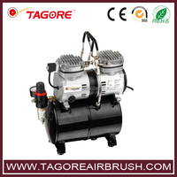 Tagore TG230T air airbrush compressor 2 cylinder 6 bar with tank