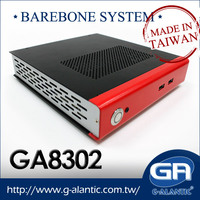 GA8302 - Fanless Mini ITX PC for Cloud Computing Client, Thin Client and HTPC