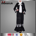 2016 Ruffle Bow Abaya Beautiful Islamic Evening Dress Embroidered Muslim Dress Women