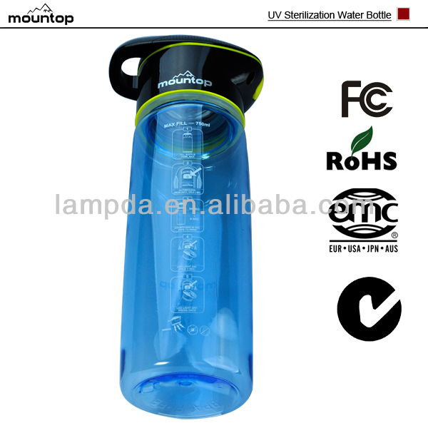 Excellent design Health Care UV Sterilize Sports Water Bottle,BPA Free,CE&ROHS