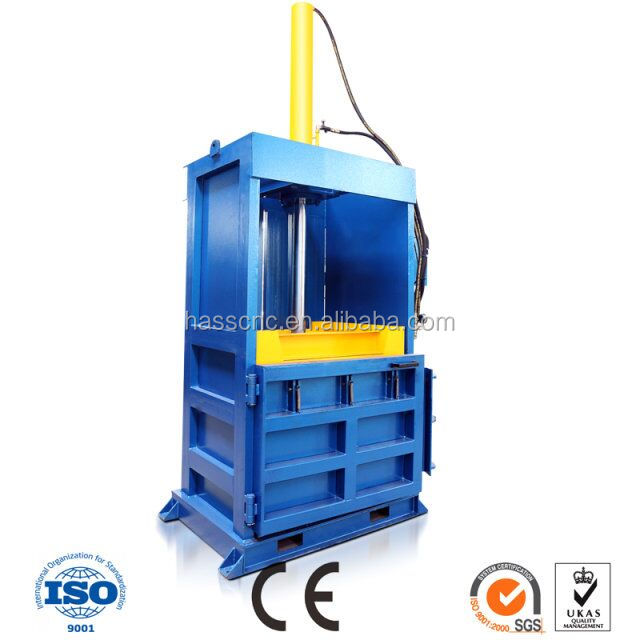 PET bottle/plastic film Vertical Baler for waste paper/Hydraulic vertical textile baler