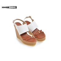 Fashion Latest Women Pu Flat Sandals