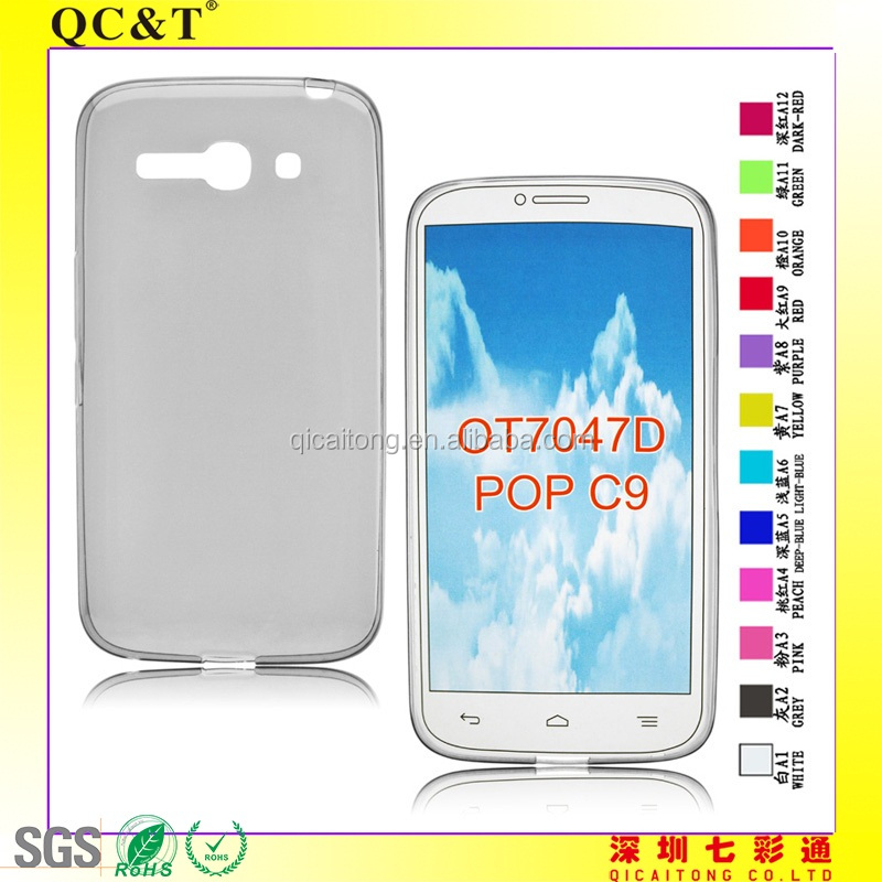mobile phone ultrathin tpu case for Alcatel OT 7047D/POP C9