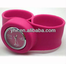 Promotional gift waterproof Unisex silicone slap watch