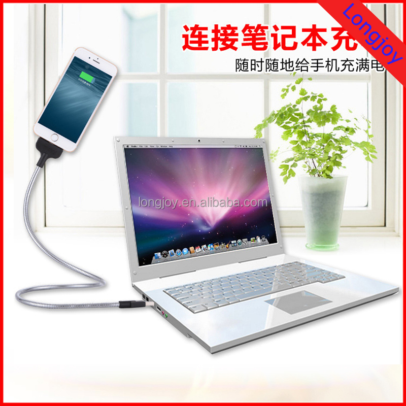 Funny Design metal cable Flexible Stand Usb charger Phone Data Desk Holder Stand For iPhone 6 7 for Samsung Android