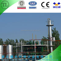 Continuous used engine oil to diesel plant