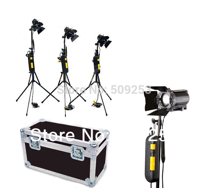 4* 150W 230v Studio Dedolight Kit Light & Dimmer Photographic Light with Stand and Bulb as DLH-4 Dedolight