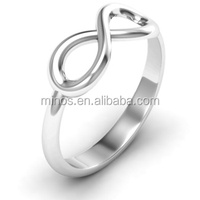 Ally Express Cheap Wholesale Classic Infinity Ring fine quality silver stainless steel ring for women wedding ring
