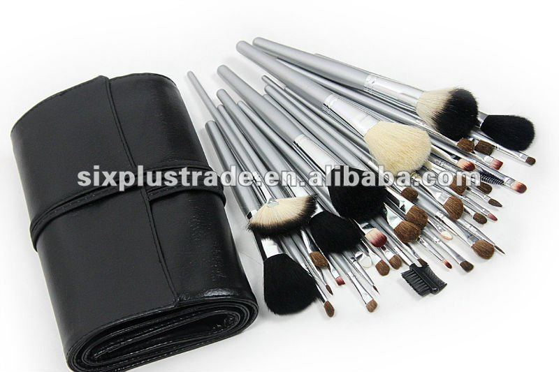 New 40 pc Professional Studio Make Up Brush Set Black