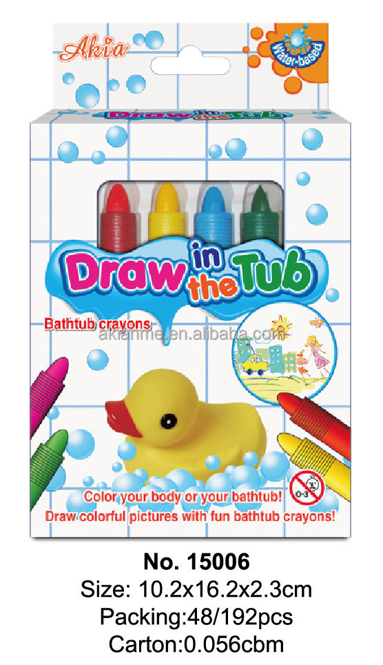Non Toxic Draw In The Tub Bath Crayons Water Based Bath tub Crayons