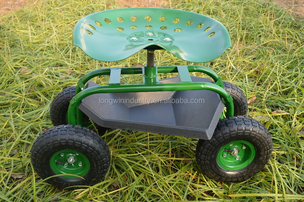 rolling garden cart scooter with swivel seat buy tractor