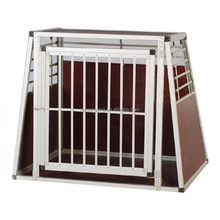 Double door Portable transport folding aluminum puppy crate