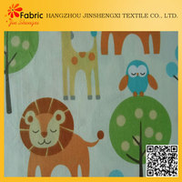 Great material custom 100% cotton bedding lion print fabric
