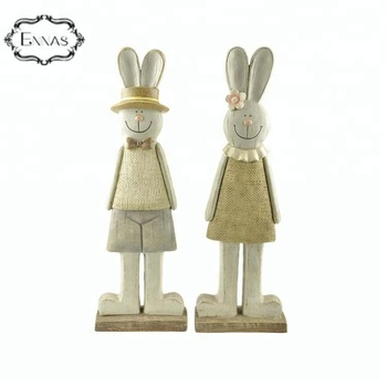 art crafts country style rabbit couple villain resin ornaments wholesale gifts crafts