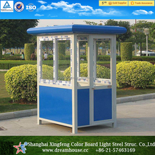 Single person space portable security booth /cheap prefabricated sentry box / security guard booth