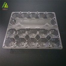Transparent Plastic Packing 10 Eggs PVC PET Tray