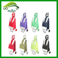 Factory price folding shopping trolley bag ,foldable vegetable shopping trolley bag
