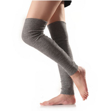 F-3340 new 2018 good products high quality thigh high socks women knitted cutsom leg warmer wool blend ladies socks