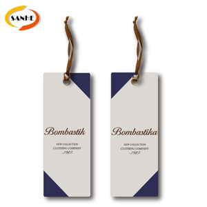 New Design Art Custom Paper Card And Logo Printed Hang Tags For Bag