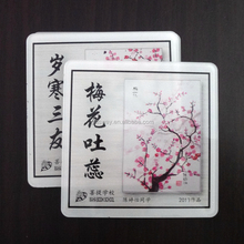 Hot selling eco-friendly promotional gift square acrylic coaster