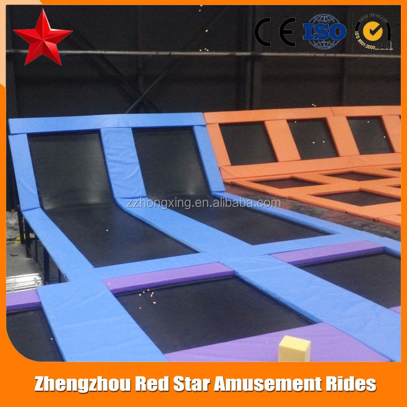 giant trampoline with ninja warrior obstacle prices, indoor gymnastic trampoline prices