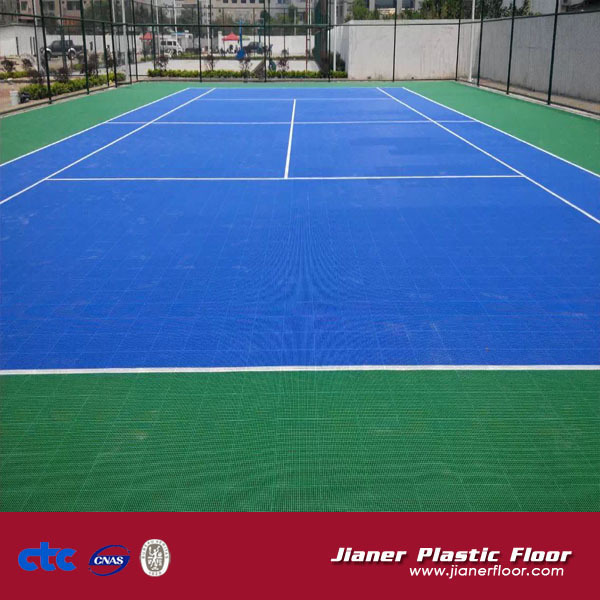 indoor and outdoor interlocking floor for basketball/tennis