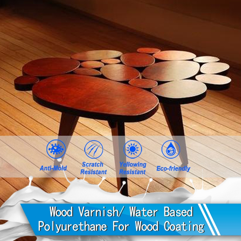 Scratch resistance water based pu wood paint/coating (PU-1058A)