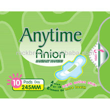 Anion Ultra Thin Sanitary Napkins manufacturer guangzhou