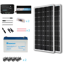 Renogy 200 Watt 12 Volt Starter Complete Kit and solar power system