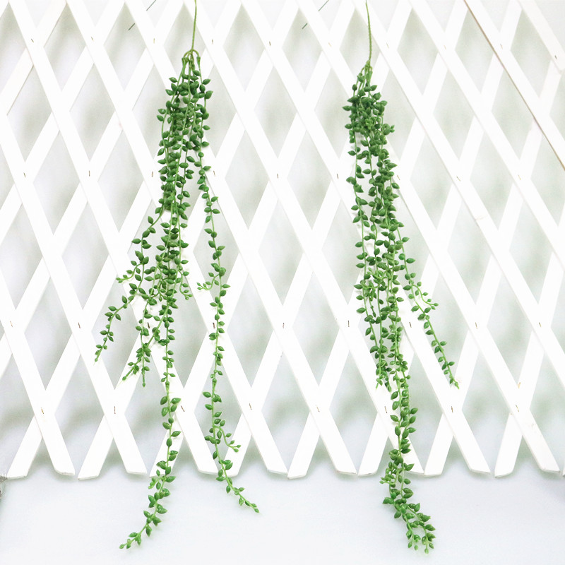Flone 3 Branch Simulation Succulents Lover Tears Green Rattan Wall Hangings Artificial Plant Home Home Party Leisure Decor (4)