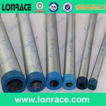 "UL listed 1"" painted galvanized electrical emt conduit with plastic end caps"
