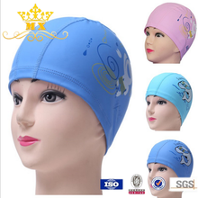 PU funny kids ear protection swimming cap