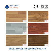 UV treatment Wood grain Click lock pvc vinyl floor planks