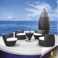 New arrival outdoor poly rattan terrace leisure furniture garden furniture