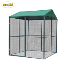 Heavy Duty Large Outdoor Welded Wire Dog fence wire mesh large dog cage/dog run kennels/dog house