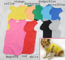 Pet Clothing Large dog clothing Tank Tops 100% Cotton 2016 Summer