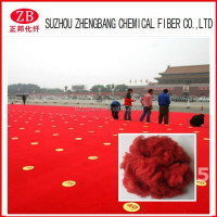 6D/12D/15D*64/75MM polyester fiber for exhibition carpet/psf