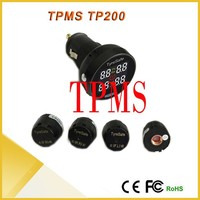 Tyresafe TPMS Car Tire Pressure Monitoring System With 4 External Sensors for Your Safety Support BAR PSI High Quality TPMS
