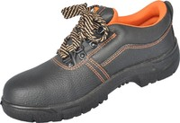 Black pu leather safety shoe