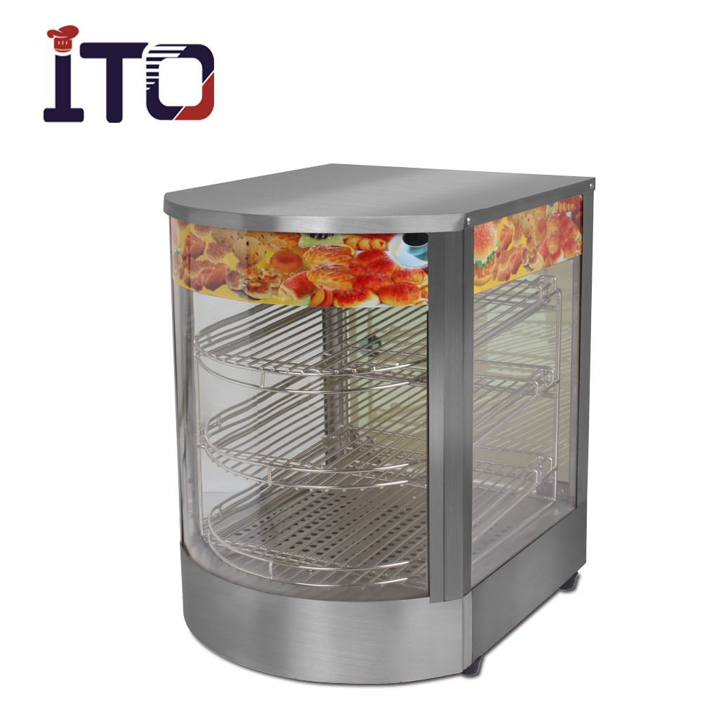 CI-1P Hot sell pie warmer/food warmer showcase /pie display warmer showcase commercial 3 layers