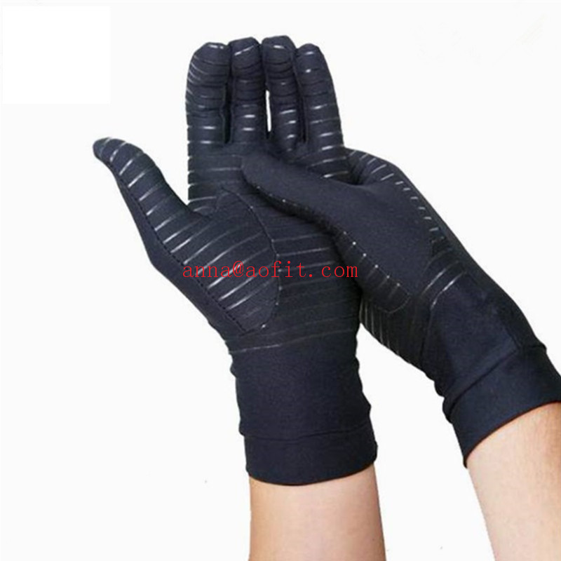New Black New design Custom Decrease Pain Copper Gloves Private Label