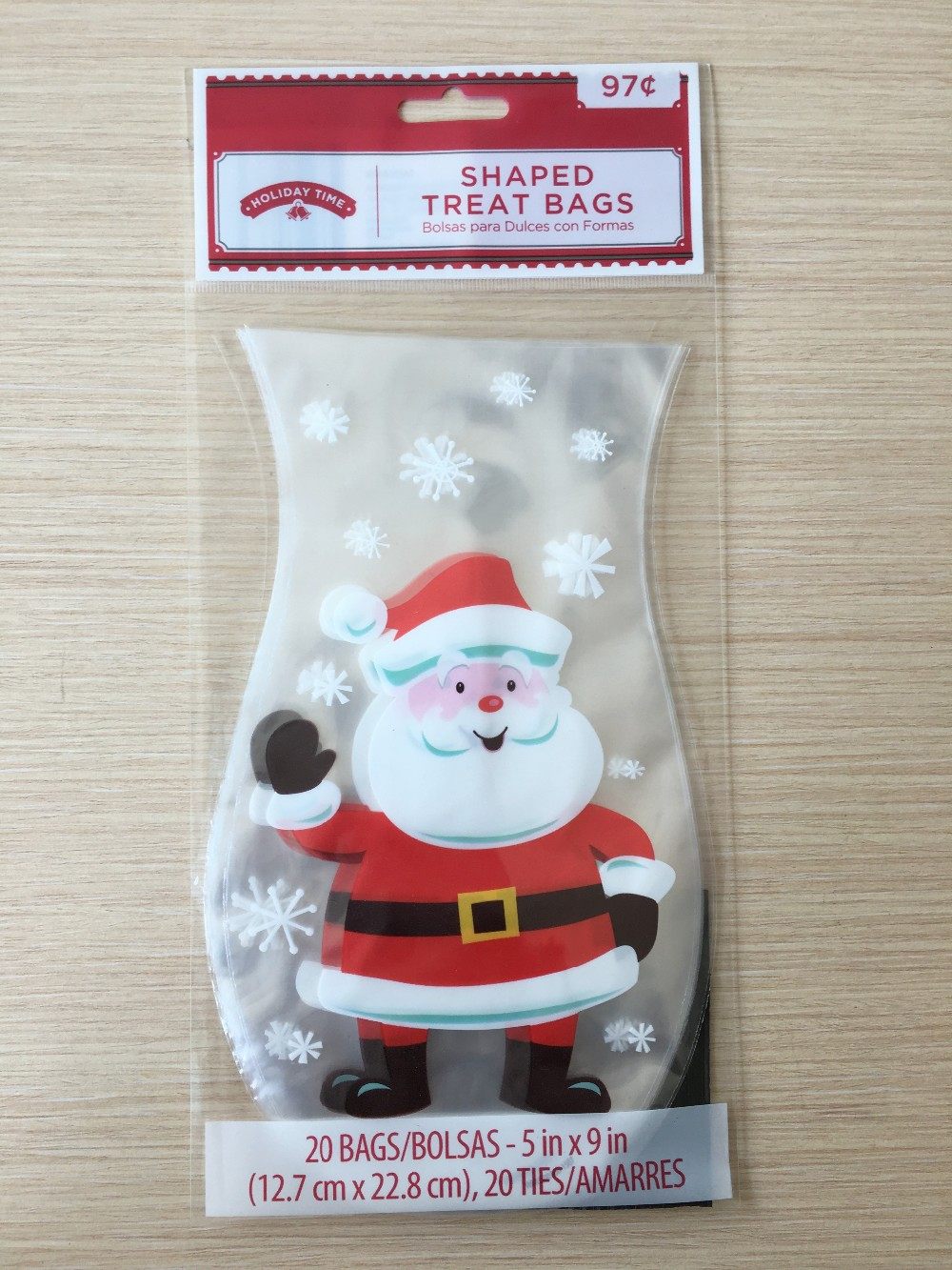 Hengsheng Christmas Shaped Cello Treat Bag 20ct Packing