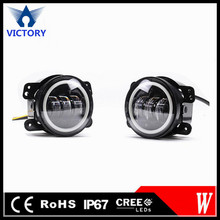 Low Price 4.5 inch led fog light special for Harley Davidson, 30W led motorcycle fog light with angel eyes