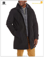 men`s winter jackets and coats poly-twill trench coat with removable padding vest