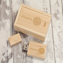 Cheap Flash Drive USB Wooden Engraved Logo Custom Wedding Gift USB Pen Drive with Box