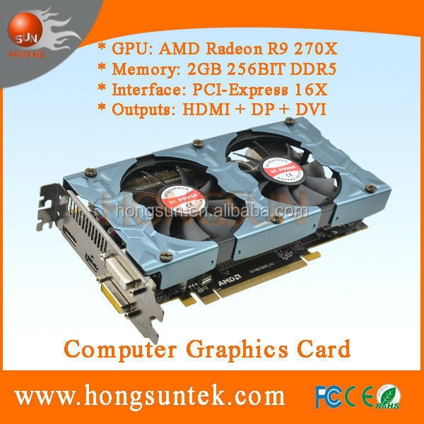 OEM OEM AMD Radeon R9 270X 2GB 256-bit GDDR5 PCI Express Video Graphics Card