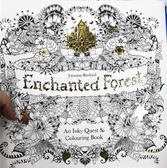 Adult Coloring Hand Painting Book Secret Garden Enchanted
